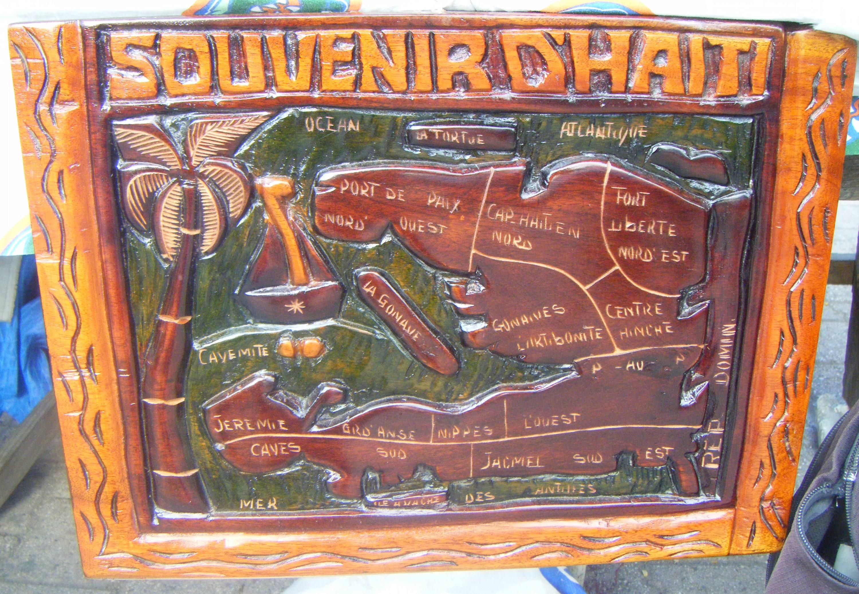 Haiti Mapa Dreveny Dekor Haitske Suvenyry Pro Svet 680 00 Kc