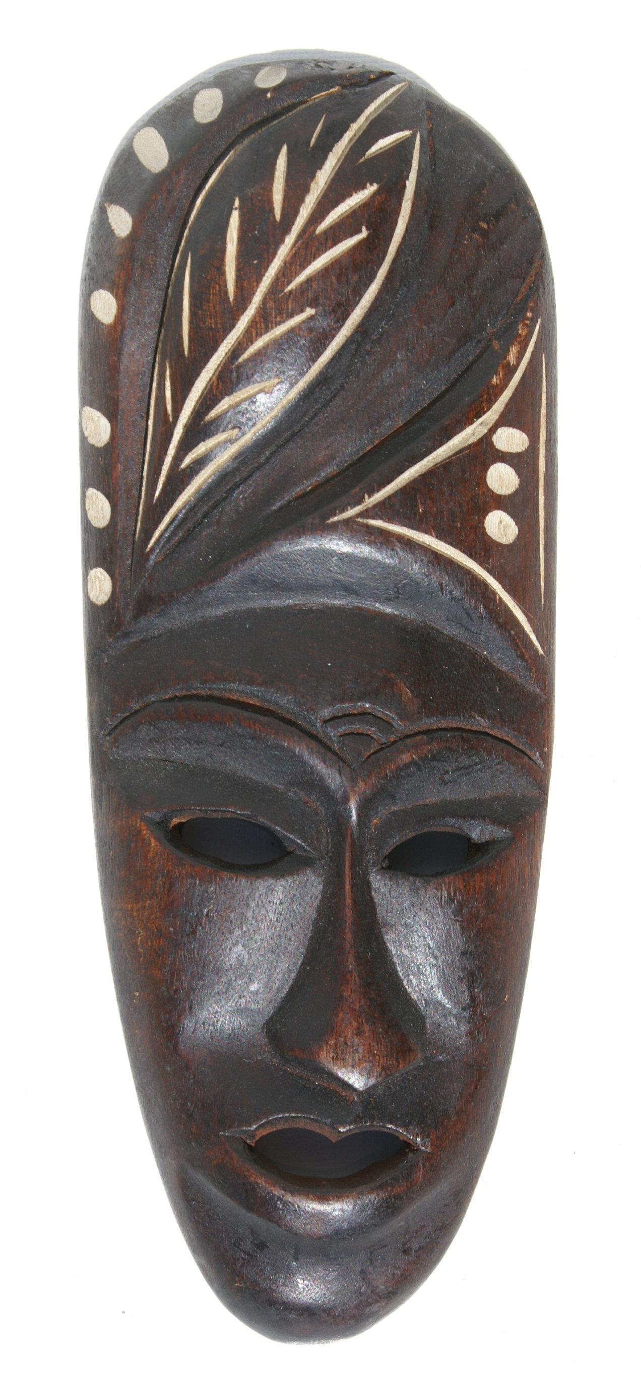 Dřevěná maska haitské kresby africký styl list design - 583.00 Kč ... 710665ba10