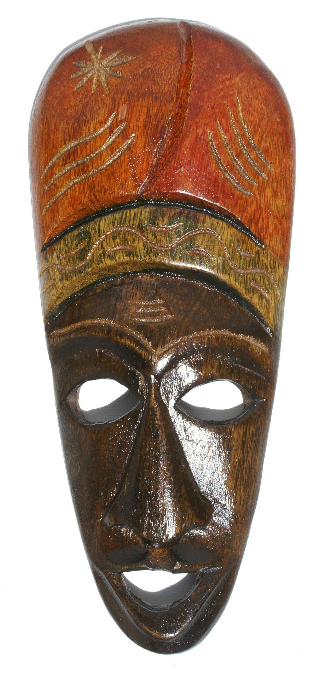 Africká dřevěná maska ručně v haiti - 515.00 Kč - Ceske Nabidky 6e6cd85ddf
