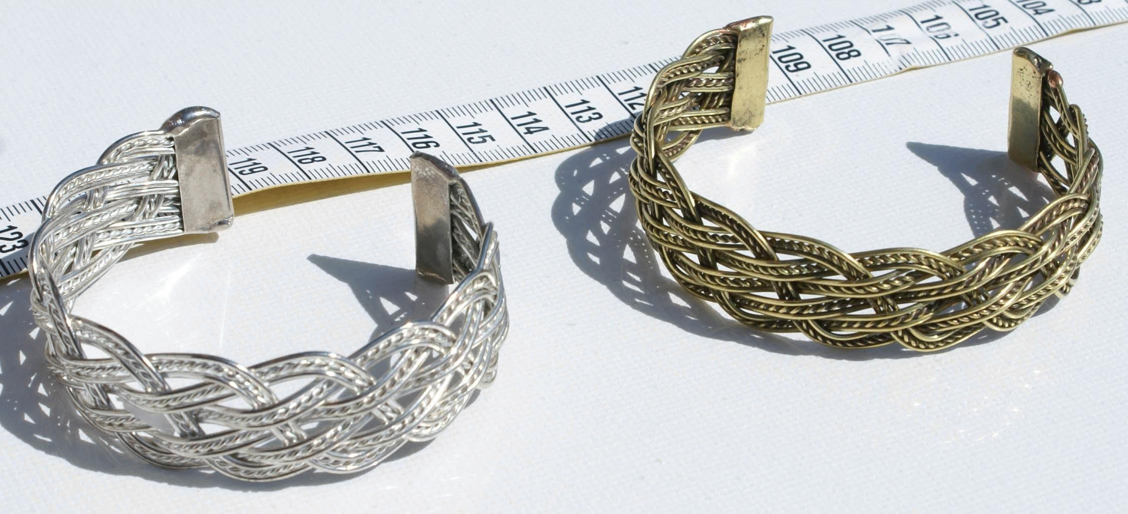 76416000e Mnoho 2 kovové tkané náramky ručně ručně tkané velkoobchodní šperky a  umění, tibet
